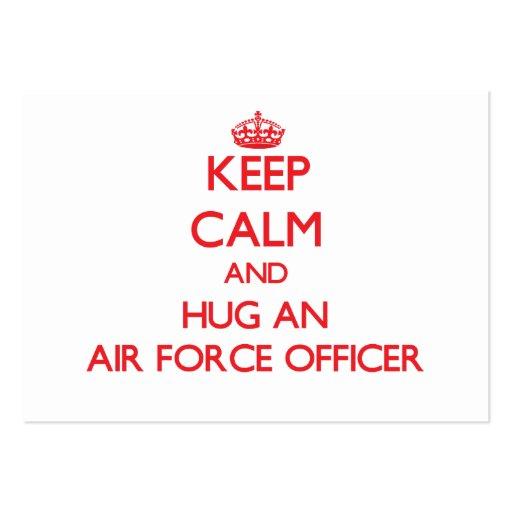 Keep Calm and Hug an Air Force Officer Business Card Template