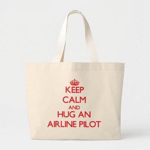 Keep Calm and Hug an Airline Canvas Bag