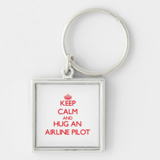 Keep Calm and Hug an Airline Key Chain