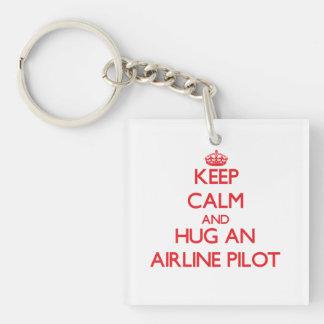 Keep Calm and Hug an Airline Acrylic Keychains