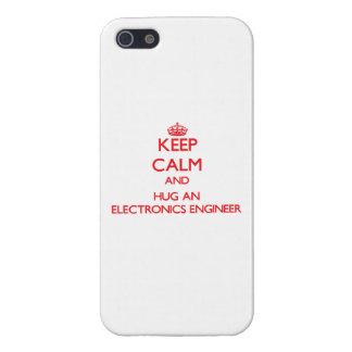 Keep Calm and Hug an Electronics Engineer iPhone 5 Cover