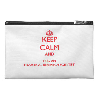 Keep Calm and Hug an Industrial Research Scientist Travel Accessory Bags