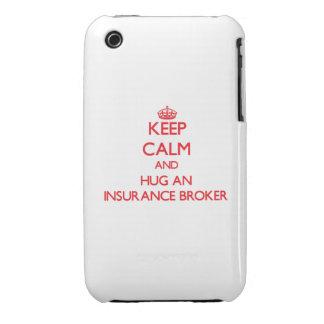 Keep Calm and Hug an Insurance Broker iPhone 3 Case