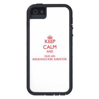 Keep Calm and Hug an Insurance Risk Surveyor iPhone 5 Covers