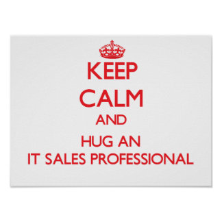 Keep Calm and Hug an It Sales Professional Print