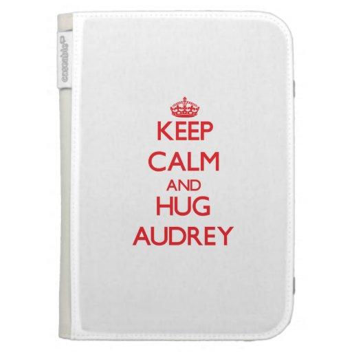 Keep Calm and Hug Audrey Kindle Cover