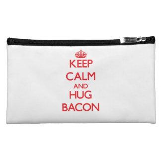 Keep calm and Hug Bacon Makeup Bag