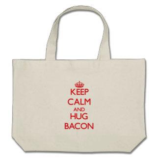 Keep calm and Hug Bacon Tote Bag