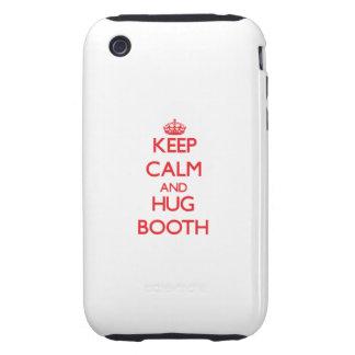 Keep calm and Hug Booth Tough iPhone 3 Case