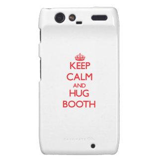 Keep calm and Hug Booth Motorola Droid RAZR Cases