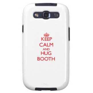Keep calm and Hug Booth Samsung Galaxy S3 Cases