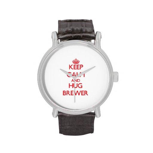 Keep calm and Hug Brewer Wristwatches