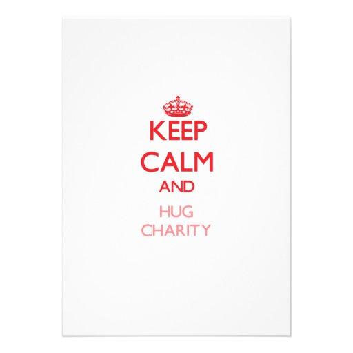Keep Calm and Hug Charity Announcement