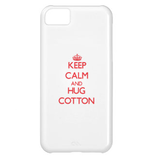 Keep calm and Hug Cotton Cover For iPhone 5C
