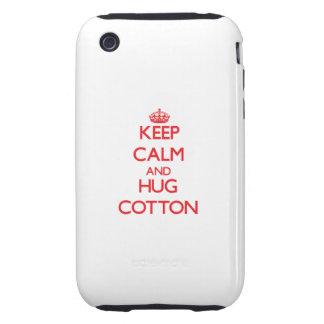 Keep calm and Hug Cotton iPhone 3 Tough Case