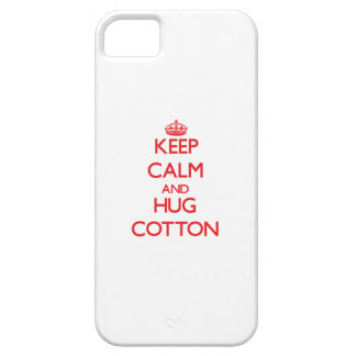 Keep calm and Hug Cotton iPhone 5 Cover