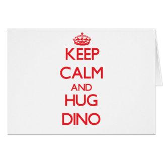 Keep Calm and HUG Dino Greeting Cards