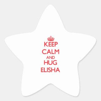 Keep Calm and HUG Elisha Star Stickers