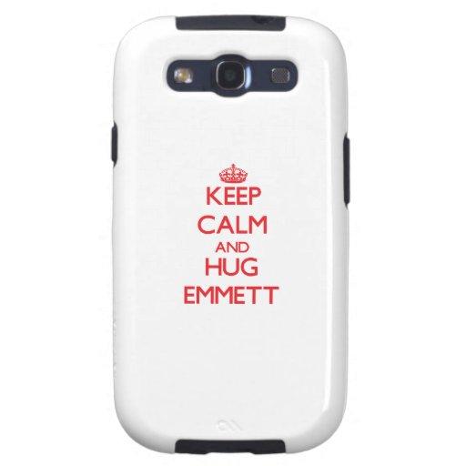 Keep Calm and HUG Emmett Samsung Galaxy S3 Covers