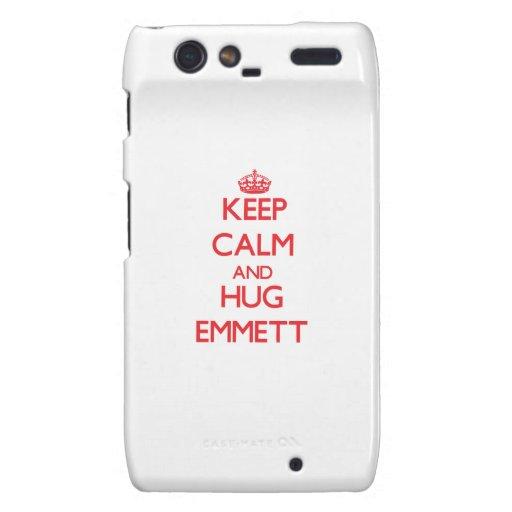 Keep Calm and HUG Emmett Motorola Droid RAZR Case