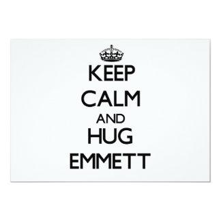 Keep Calm and Hug Emmett Custom Announcements
