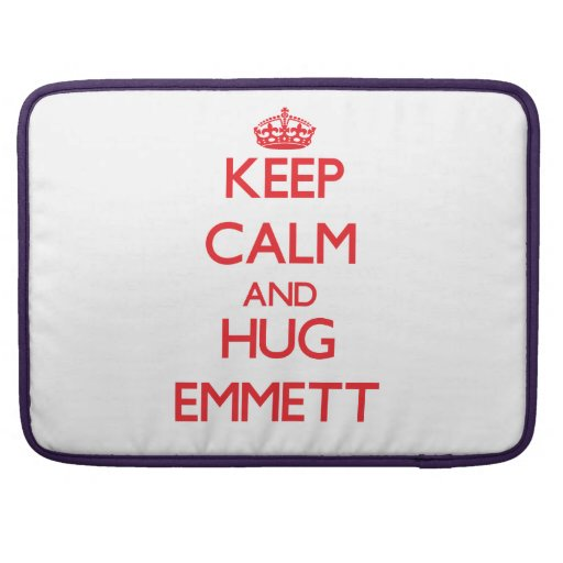 Keep Calm and HUG Emmett MacBook Pro Sleeve