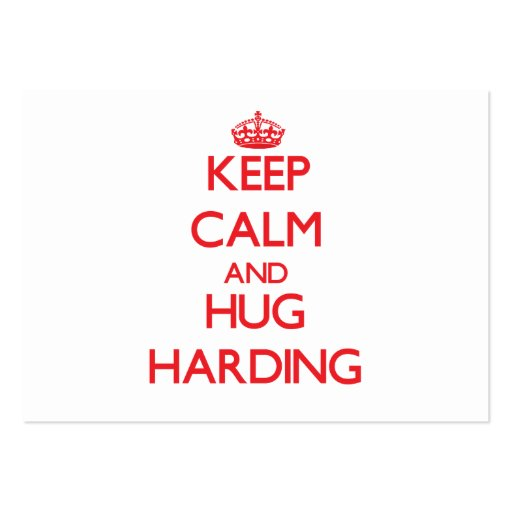 Keep calm and Hug Harding Business Card Template