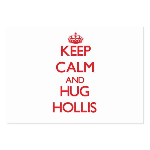 Keep Calm and HUG Hollis Business Card