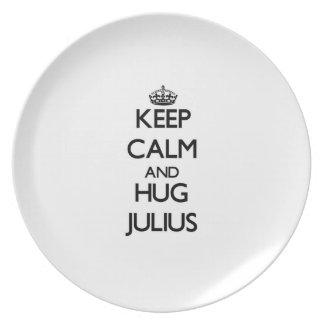 Keep Calm and Hug Julius Dinner Plates