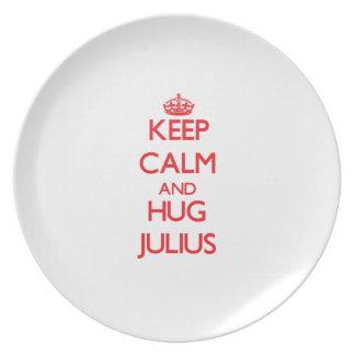 Keep Calm and HUG Julius Plates