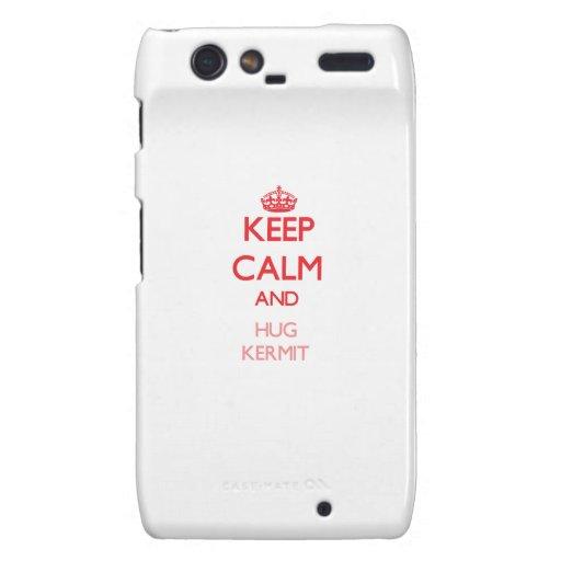 Keep Calm and HUG Kermit Motorola Droid RAZR Cases