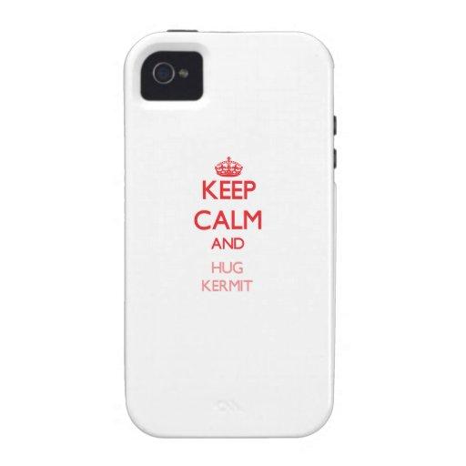 Keep Calm and HUG Kermit Vibe iPhone 4 Cases