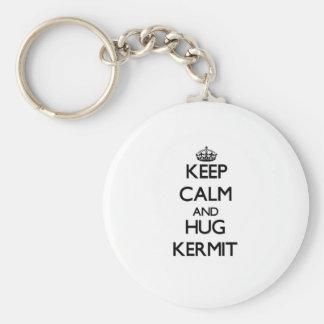 Keep Calm and Hug Kermit Keychain