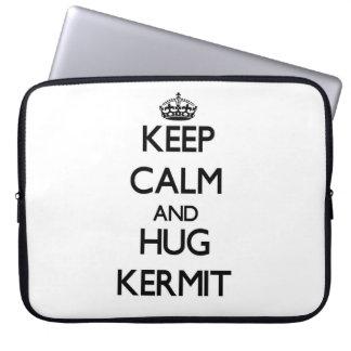 Keep Calm and Hug Kermit Laptop Computer Sleeve
