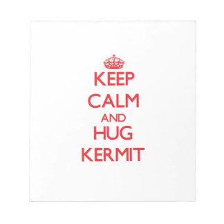 Keep Calm and HUG Kermit Memo Note Pads