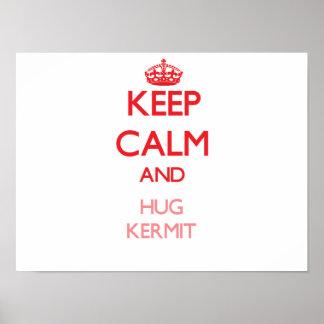 Keep Calm and HUG Kermit Print