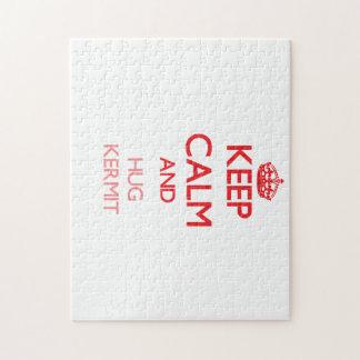 Keep Calm and HUG Kermit Jigsaw Puzzle