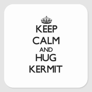 Keep Calm and Hug Kermit Square Stickers