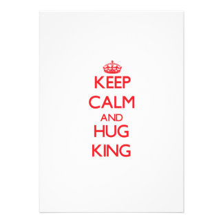 Keep Calm and HUG King Personalized Announcements