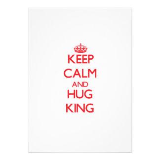 Keep calm and Hug King Invites