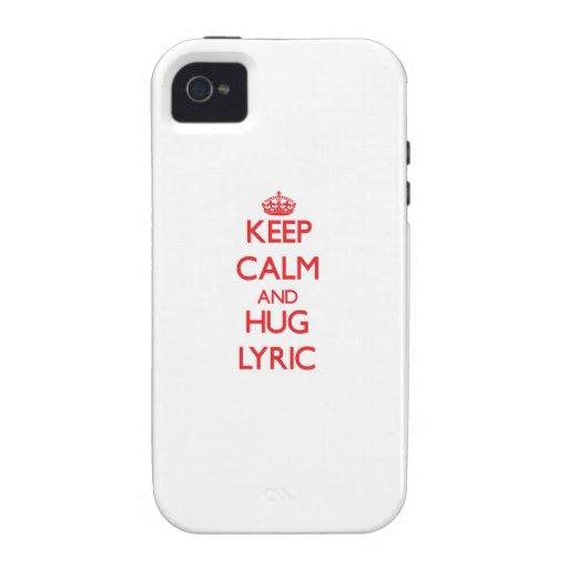 Keep Calm and Hug Lyric Vibe iPhone 4 Cover