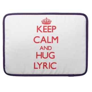 Keep Calm and Hug Lyric Sleeve For MacBooks