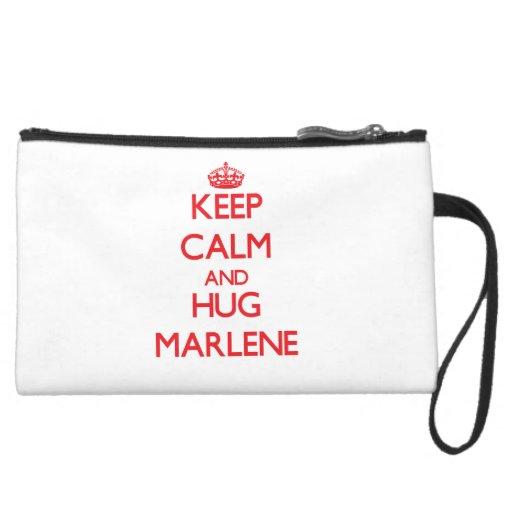 Keep Calm and Hug Marlene Wristlet Purse
