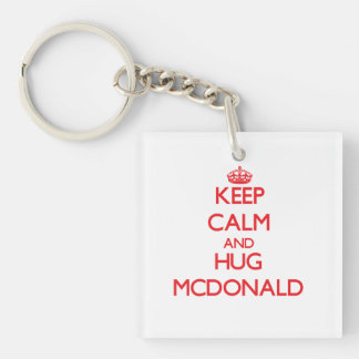 Keep calm and Hug Mcdonald Acrylic Keychains