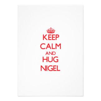 Keep Calm and HUG Nigel Custom Invite