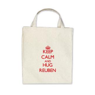 Keep Calm and HUG Reuben Tote Bags