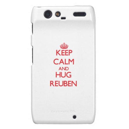 Keep Calm and HUG Reuben Droid RAZR Cases