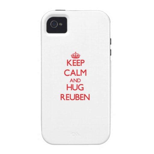 Keep Calm and HUG Reuben iPhone 4 Covers