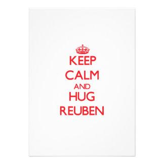 Keep Calm and HUG Reuben Custom Invite
