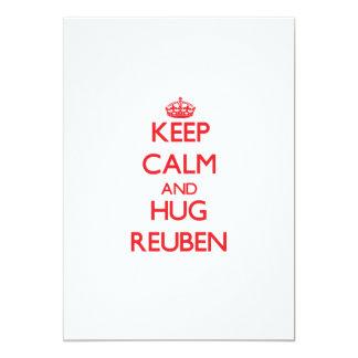 "Keep Calm and HUG Reuben 5"" X 7"" Invitation Card"